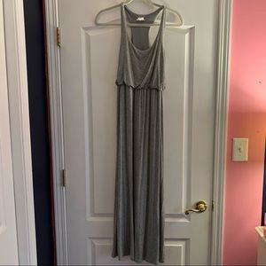 Tobi heather grey tank top maxi dress